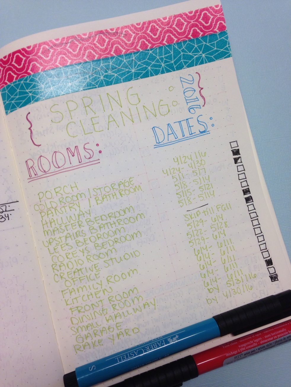 Spring Cleaning: Organizing a Schedule