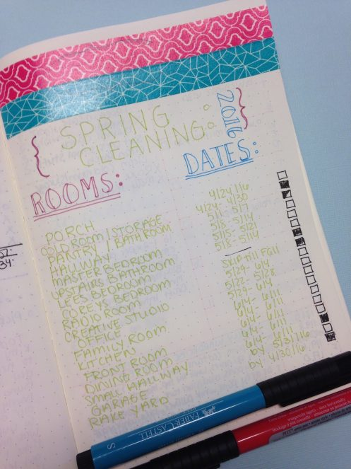 Spring Cleaning: Organizing a Schedule in Your Bullet Journal