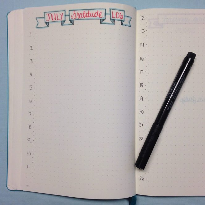 The Happiness Dare: Incorporating Gratitude into a Bullet Journal