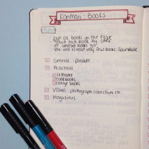 Using a Bullet Journal with the KonMari Method