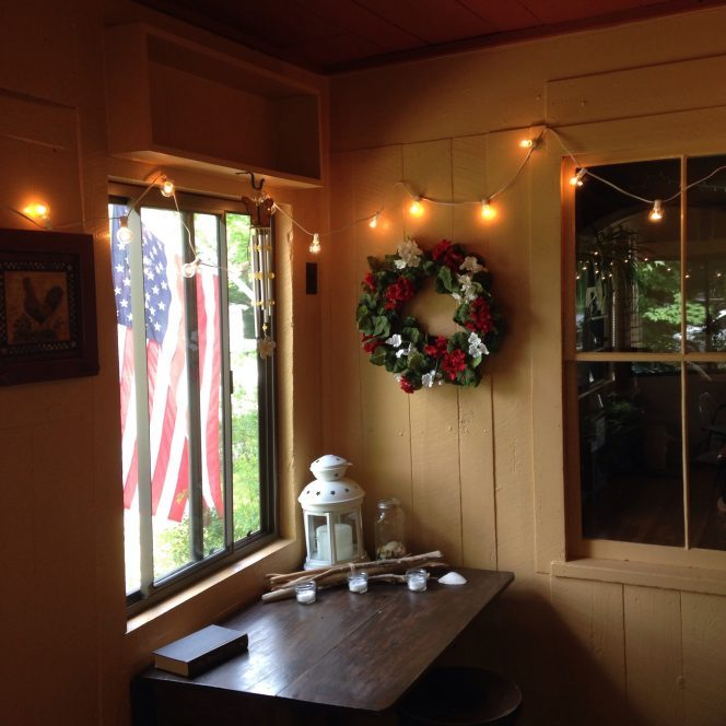 Seasonal Decorations on a Porch