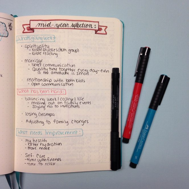 Mid-Year Review: Reflecting in a Bullet Journal