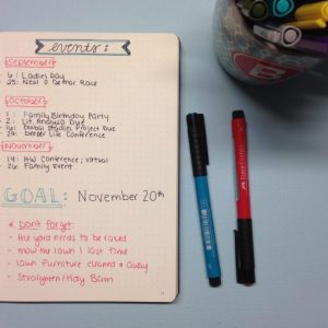 Fall Cleaning Planning in a Bullet Journal