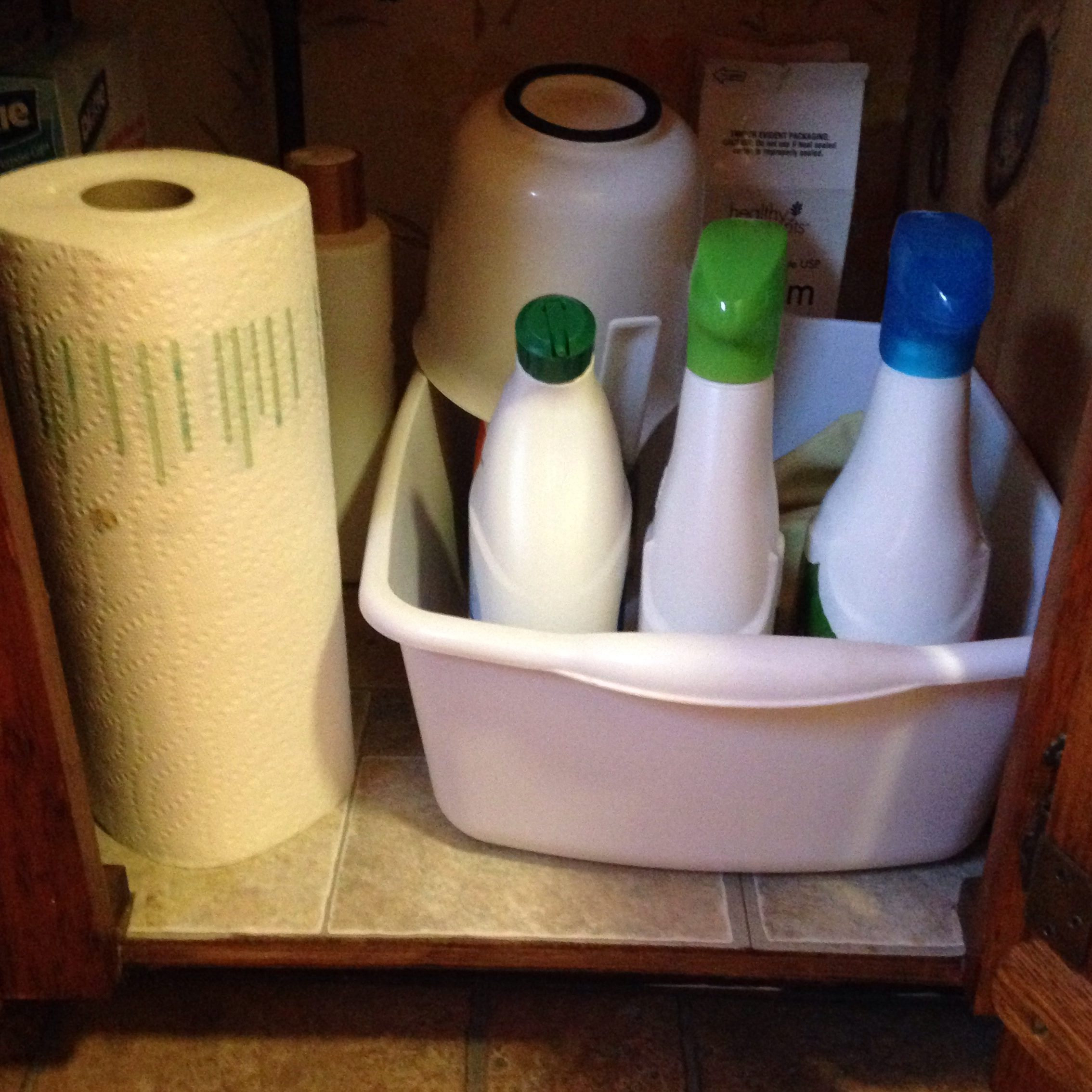 Store Your Cleaning Supplies Where You Use Them