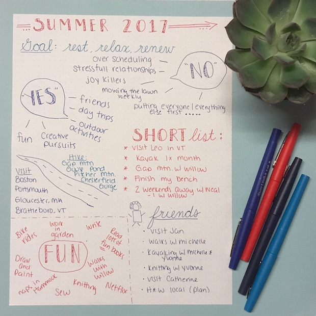 Summer Planning in a Bullet Journal