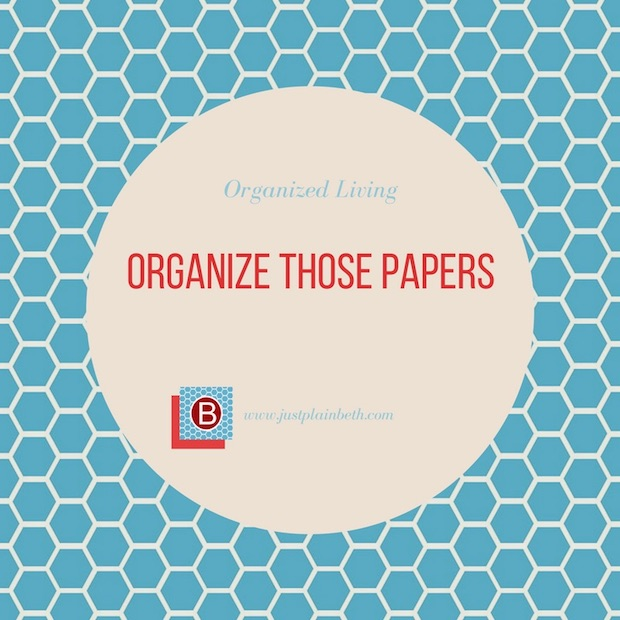 Organize Those Papers